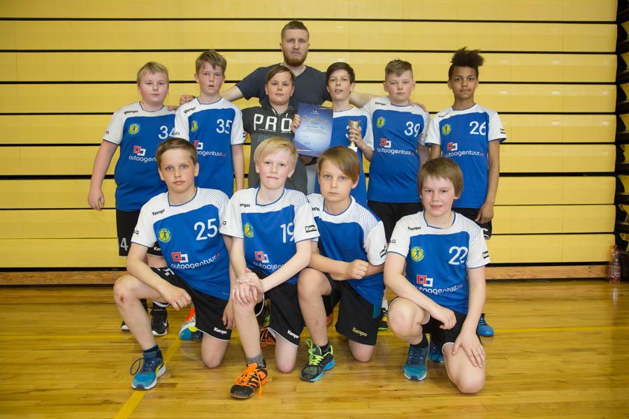 D2 vanuseklassi meeskond - treener Rasmus Ots